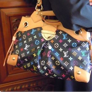 Louis Vuitton Ursula Black Multicolor Shoulder Bag